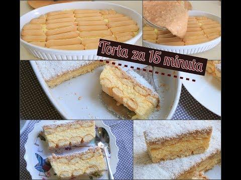 Torta sa kokosom za 15 minuta – Brza, nepečena torta