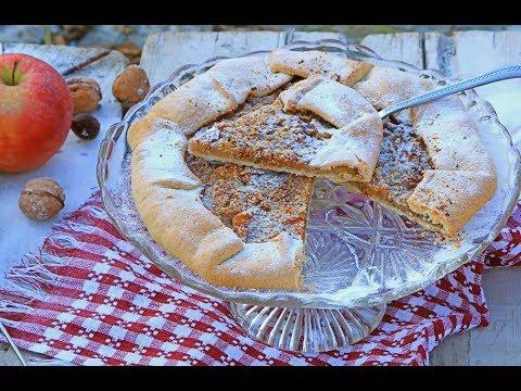 Rustični kolač s jabukama i orasima – Posni kolač