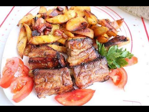 Bakina kuhinja- svinjska rebra sa medom začinima i krompirom