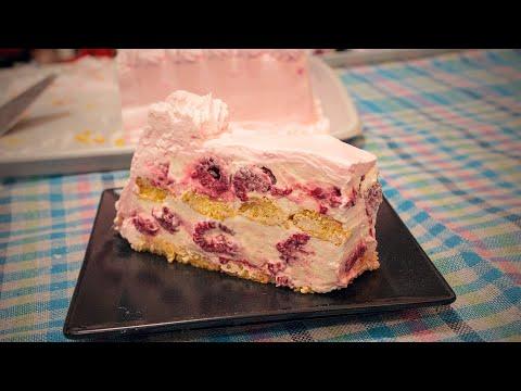 Brza torta sa malinama i piškotama