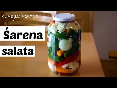 Šarena salata – Turšija  – Zimnica –  Video recept