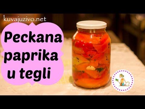 Pecena paprika u tegli – Peckana paprika – Video recept
